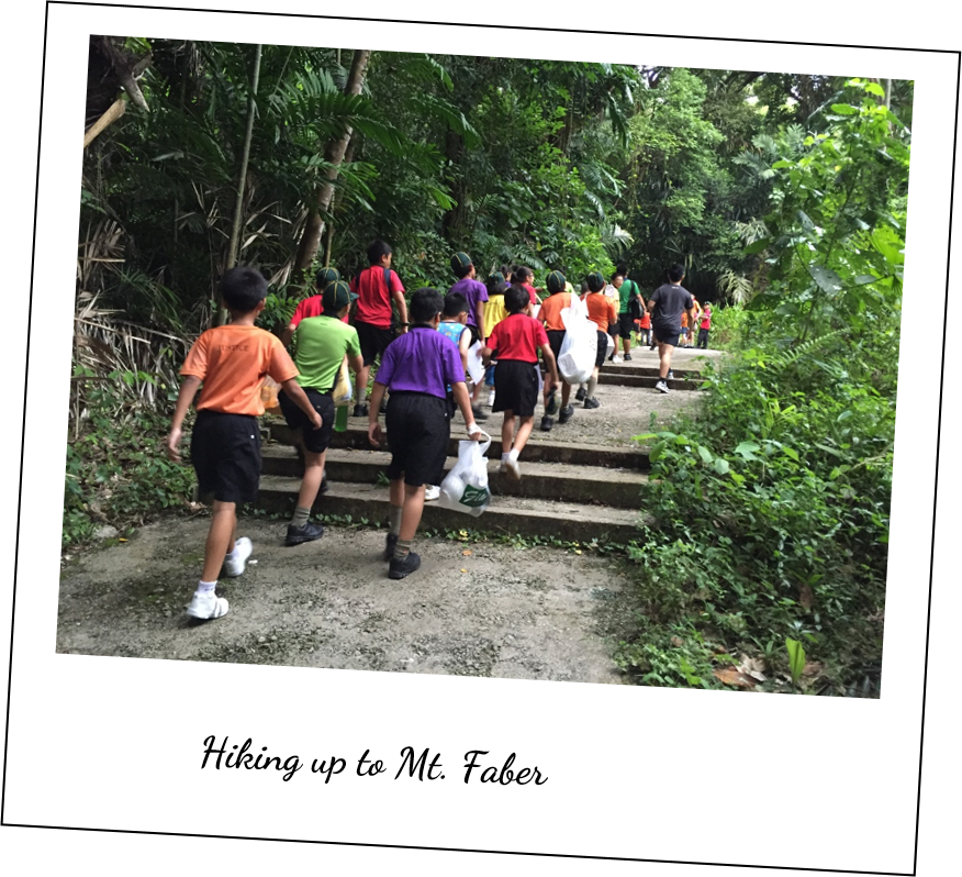 Hiking up to Mt. Faber